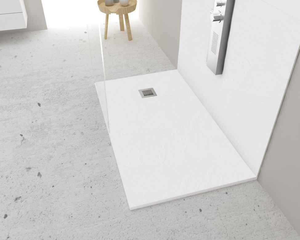 Korman plato slate blanco 120x70